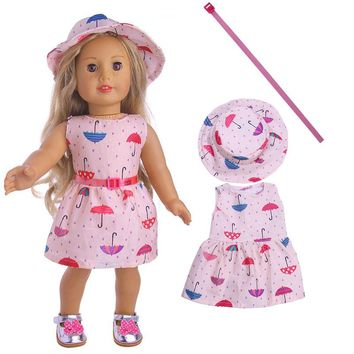 New Arrival 3pcs Clothes For American Girl Doll 18 Inch Doll Clothes And Accessories LT1147