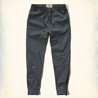 Hollister Ankle-Zip Twill Jogger Pants