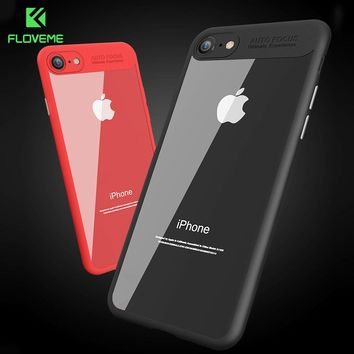 FLOVEME For iPhone 8 Case iPhone 8 Plus Case 3D Transparent Back + Soft TPU Frame Cover For Case iPhone 8 8 Plus