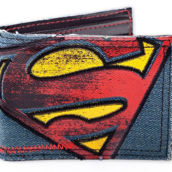 Superman - Vintage Logo Canvas / Jeans Wallet - Billfold