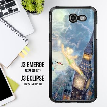 Peter Pan Tinker Bell X0311 Samsung Galaxy J3 Emerge, J3 Eclipse , Amp Prime 2, Express Prime 2 2017 SM J327 Case