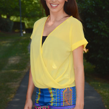 Casual Living top, yellow