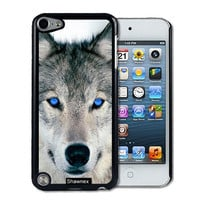 IPod 5 Touch Case Thinshell Case Protective IPod 5G Touch Case Shawnex Blue Eyed Wolf Face Wolves
