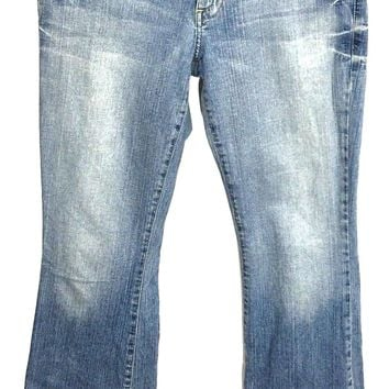 Guess Jeans 1981 Light Wash Daredevil Flare Leg Stretch Womens 29 Actual 30 x 32 - Preowned