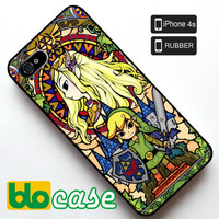 The Legend of Zelda Stained Glass Iphone 4s Rubber Case