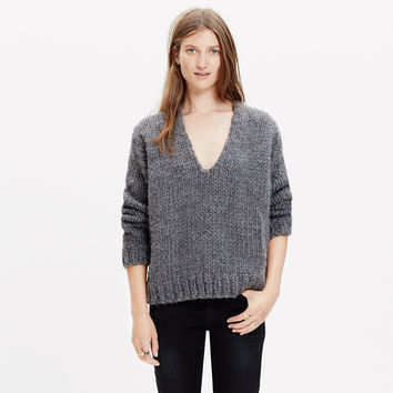 Anaak™ Handknit V-Neck Sweater