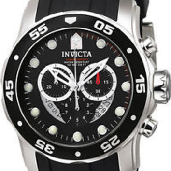 Invicta Men's 6977 Pro Diver Collection Chronograph Black Dial Black Watch