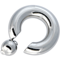 "00 Gauge STEEL BCR Captive Ring - 3/4"" 12mm ball 