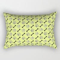 Paw Prints & Bones Rectangular Pillow by All Is One