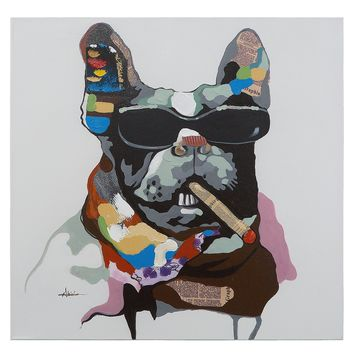 Cool Gear Abstract Canine Portrait Painting