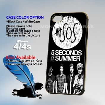 5 second of summer, Photo On Hard Plastic iPhone 4 4S Case