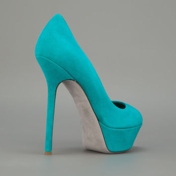 FSJ Beryl Turquoise Low-cut Uppers Pumps