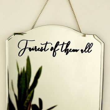 Fairest of Them All Hanging Wall Mirror | Urban Outfitters