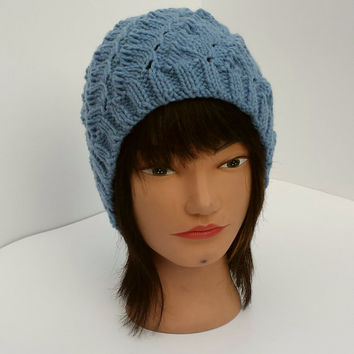 Knit hat, stretchy, warm beanie, beautiful, unique, winter accessory.