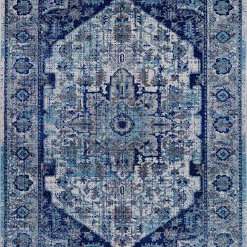 2216 Blue-Ivory Persian Oriental Area Rugs