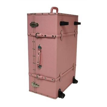 The Sorority College Dorm Trunk - Baby Pink Dorm Underbed Storage College Accessories Cute Dorm Trunk Trunks For Girls Designer Trunks Dorm Storage College Supplies