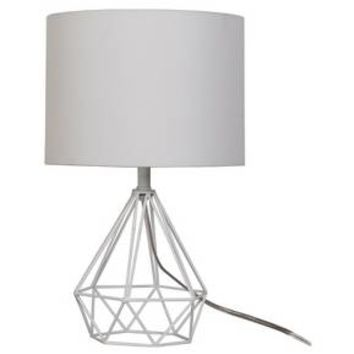 Diamond Wire Table Lamp Painted Base White - Threshold™