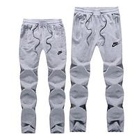 NIKE Women Men Lover Casual Pants Trousers Sweatpants Grey I