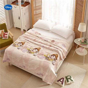 Disney Beauty and Beast Belle Quilts Comforters Single Twin Queen Size Bedding Cotton Covers Children's Baby Girls Bedroom Decor
