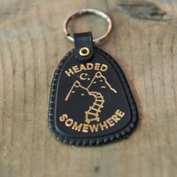 Headed Somewhere Keychain at Town Moto
