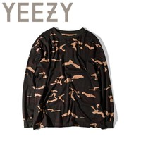 ca kuyou Kanye West YEEZY Camouflage T Shirt 1:1 High Quality SEASON 1 Summer Justin Bieber Clothes  Military Army Camo YEEZUS T-shirts