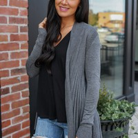 In The Moment Cardigan - Charcoal