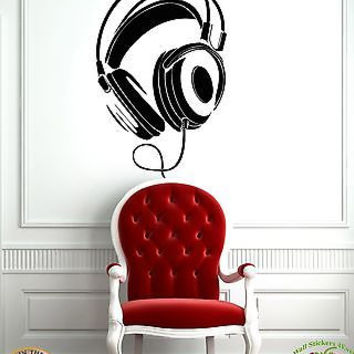 Wall Stickers Vinyl Decal Headphones Music Youth Decor For Living Rooms z1092
