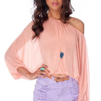 Bubblegum Top in Salmon :: tobi