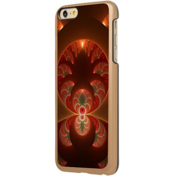 Luminous abstract modern orange red Fractal Incipio Feather® Shine iPhone 6 Plus Case