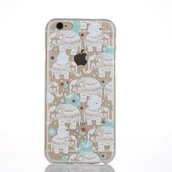 Originality White Elephant Lace iPhone 6 6s Case Ultrathin Cover Gift-170928