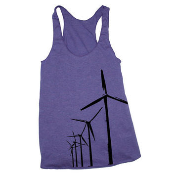 Womens WIND FARM TURBINES american apparel TriBlend by happyfamily