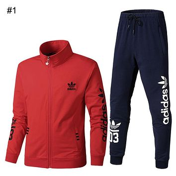ADIDAS Clover couple spring and autumn suit fashion running fitness sportswear two-piece #1
