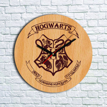 Harry Potter Wall clock Wood clock  Harry Potter Gift Ideas Valentines gifts
