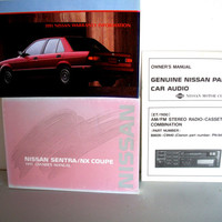 1991 Nissan Sentra NX Coupe Owners Manual Plus Manual For Nissan Car Audio ET/ 1100 Stereo Radio Cassette Combination Vintage Manuals