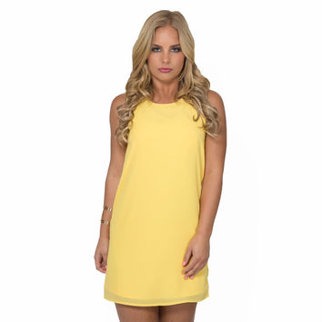 Simple Kind Of Love Shift Dress In Yellow