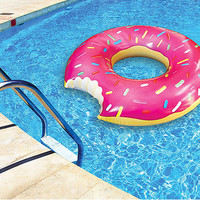 Hot Pink Giant Donut Pool Float