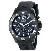 Invicta 14890 Men's Specialty Chronograph Black Dial Black Rubber Strap Watch