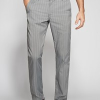 The Highland Pant - Grey Pinstripe