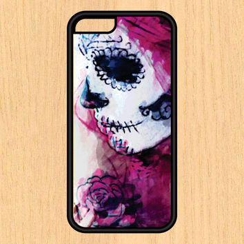 Day of The Dead Girl Watercolor Art Print Vintage Design Art iPhone 4/4S 5/5C 6/6+ and Samsung Galaxy S3/S4/S5 Phone Case