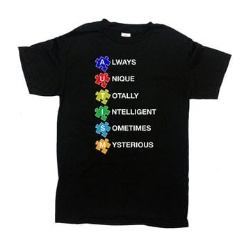 Autism Awareness T Shirt Autism T Shirt Autism Gift Puzzle Piece Autistic T Shirt Autism Support Shirt Mens Ladies Tee - SA581