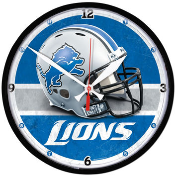 Detroit Lions NFL Round Wall Clock
