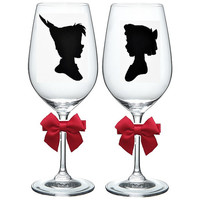 Disney's Prince and Princess Wine Glass; Set of 2; Spouse; Married; Couple; Wedding;
