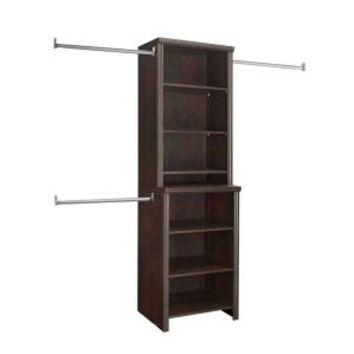 ClosetMaid, Impressions 25 in. Chocolate Deluxe Hutch Closet Kit, 30881 at The Home Depot - Mobile