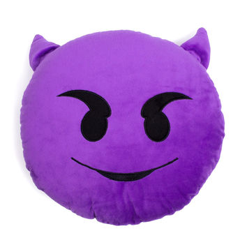 Emoji Purple Devil Pillow