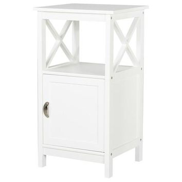 Country - side table/ night stand with Door, white
