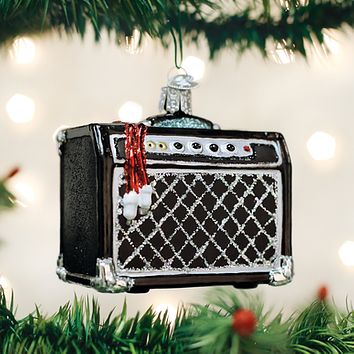 Old World Christmas Handcrafted Blown Glass Ornament -- Guitar Amplifier