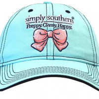 "Simply Southern Hat ""Preppy, Classy, Happy."" - Light Blue"