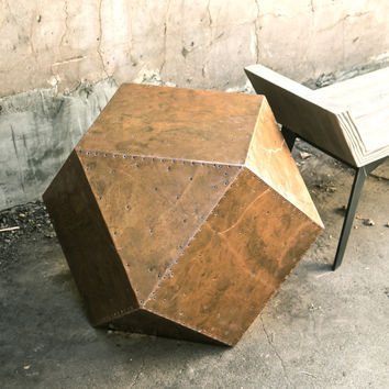 Metal-Clad Accent Table
