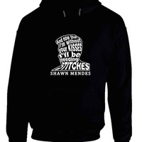 Shawn Mendes Stitches Lyrics On Face Of Shawn Mendes Hoodie