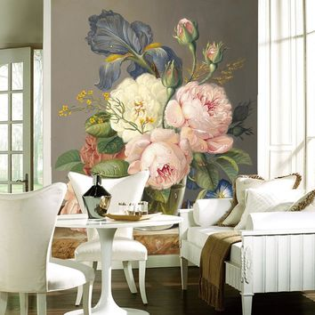 Custom Luxury Wallpaper Elegant Flowers Photo Wallpaper Silk Wall Murals Home decor Large wall Art Kid room Bedroom Sofa TV back